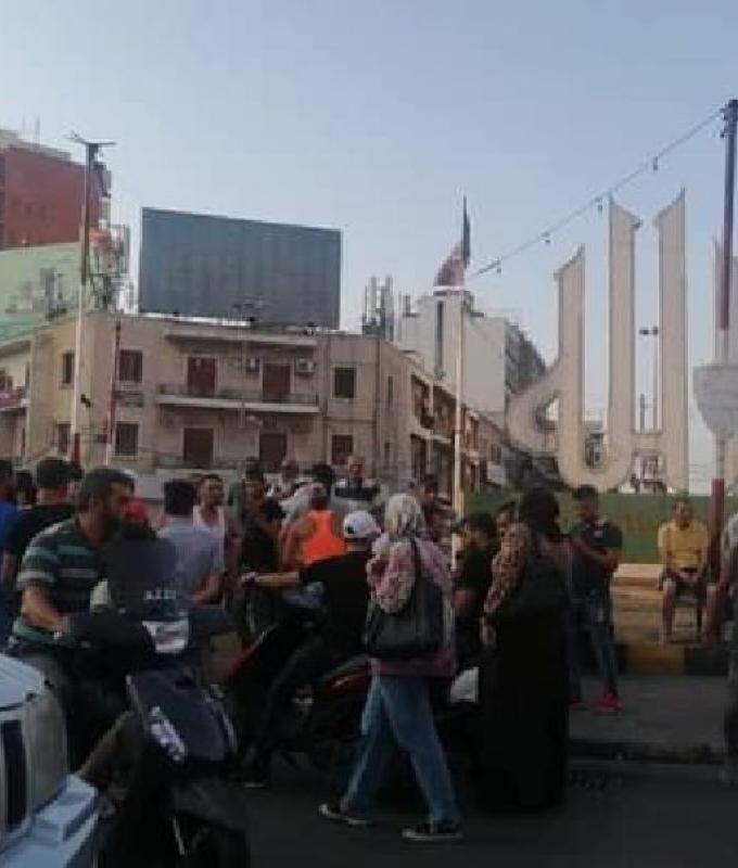 وقفة احتجاجية في ساحة النور للإفراج عن أحد الناشطين