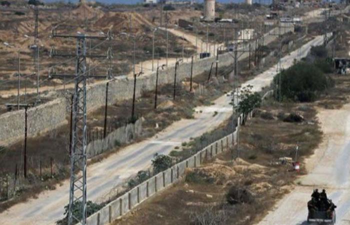 جدار خرساني على حدود مصر وقطاع غزة