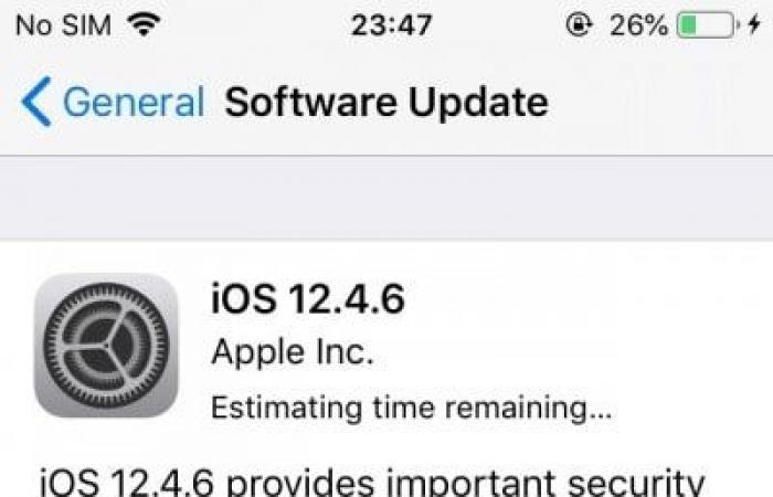 آبل تطلق iOS 12.4.6 لأجهزتها القديمة