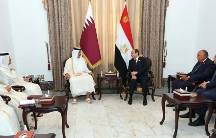 العلاقات الثنائية بين السيسي وأمير قطر
